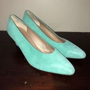 St John High Heel Pump Shoes Made In Italy Leather